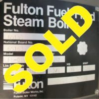 199-FS05168 10 HP FULTON BOILER- (5)-SOLD