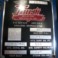 201-FS051610 20HP HURST STEAM BOILER 1997- (1)
