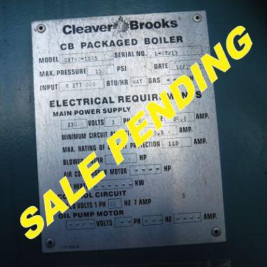 225-FS11172 150 HP CLEAVER BROOKS 1997 NB# 3032 SALE PENDING