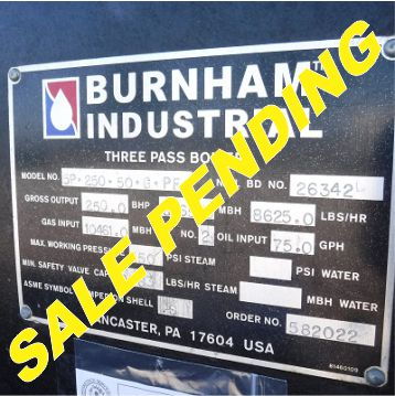 230-FS01181 250 HP BURNHAM NB# 26342 (2) SALE PENDING