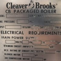 238-FS08182 200 HP CLEAVER BROOKS 1981 SER#L-71640 (4)