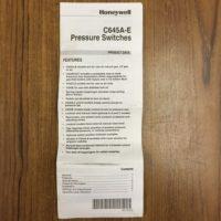113-FS12145 HONEYWELL PRESSURE SWITCH (10)