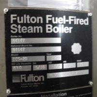 271-FS08196 20 HP FULTON 1999 NB# 84147 TAG