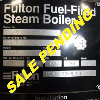 270-FS08195 20 HP FULTON NB# 84146 (4) SALE PENDING
