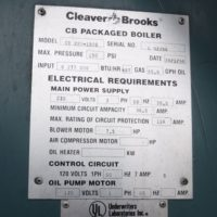 280-FS11196 150 HP CLEAVER BROOKS 1994 NB# 1090 (10)