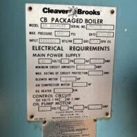 299-FS11202 125 HP CLEAVER BROOKS 1992 SER.# L-90778 (4)