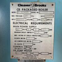 300-FS11203 125 HP CLEAVER BROOKS 1991 SER.# L-90439 (1)