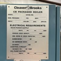 290-FS10203 30 HP CLEAVER BROOKS 2002 NB# 6576 (6)