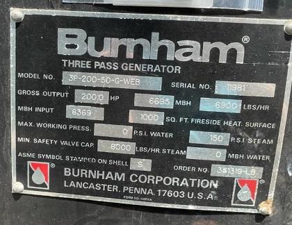 330-FS08215 200 HP BURNHAM 1996 NB# 104
